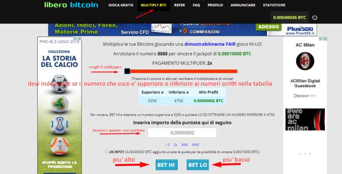 bitcoin rubinetto pilota automatico